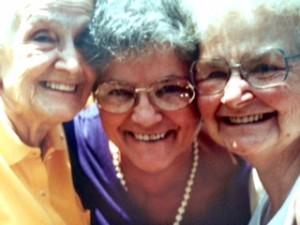 Aunt Ellie, Aunt Bev & Mom. Sisters!