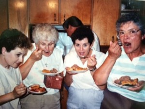 My your pie is yummy Joyce (Debbie, Mom, Carmen, Bev)